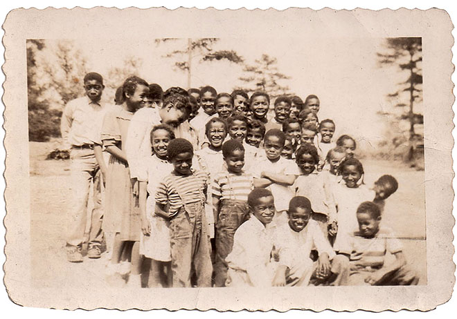 Children at the Rosenwald School