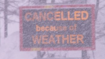 cancelled sign snow