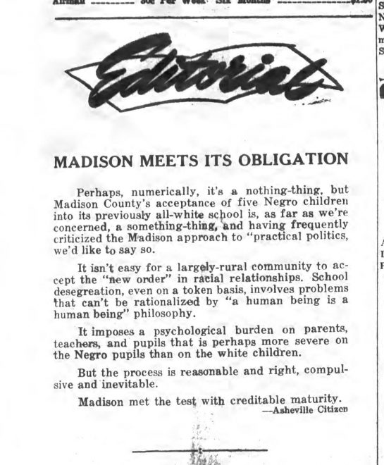 Madison Meets its Obligation – News-Record, August 27, 1964