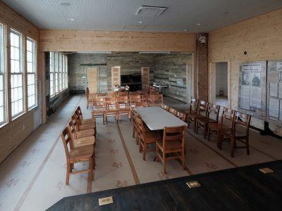 The school's restored interior late in 2019.