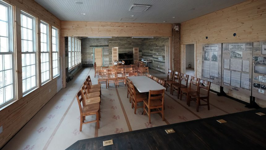 The school's restored interior late in 2019.