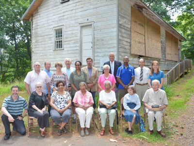 Friends of the Mars Hill Rosenwald School in 2019